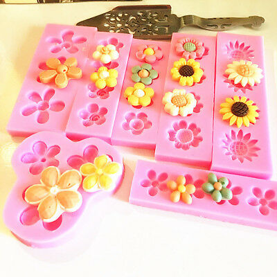 Flower Silicone  Fondant Mold  Cake Chocolate Candy Decorating Baking Mould Tool