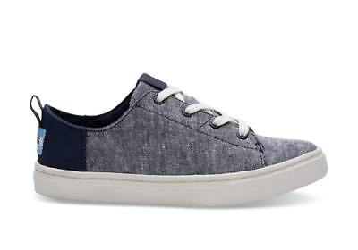 f42db206d4b65 NEW TOMS DRIZZLE Grey Slub Chambray Tiny Toms Lenny Sneakers Shoes ...
