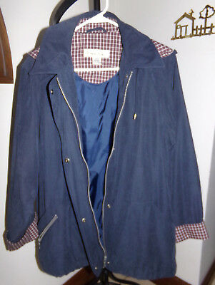 1 Madison Navy Blue Jacket Ladies Coat Size L