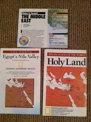 Maps of The Middle East, The Holy Land, The North Egypt's Nile Valley Nat. Geo.
