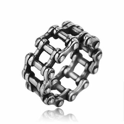 Stainless Steel Fashion Silver Men's Punk Biker Rings Male Casting Jewelry