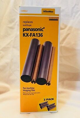 1 Pack Panasonic Substitute New OfficeMax Fax Machine Imaging Film KX-FA136