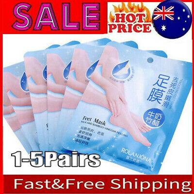 1-5pair Exfoliating Peel Foot Mask Baby Soft Feet Remove Callus Hard Dead Skin B