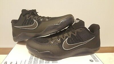 b0739db9d17c Nike Kobe XI 11 Dark Knight Triple Black Blackout Cool Grey Size 11  836183-001
