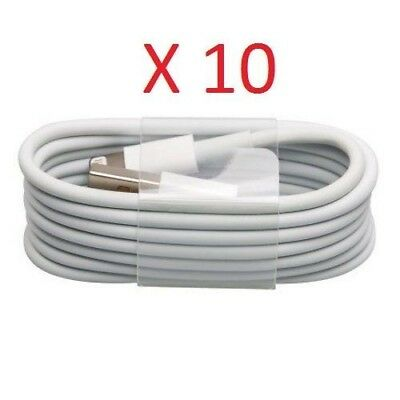 Lot 10 Pack - USB Sync Data Charging Charger Cable Cord for iPhone 5s 6 7 8 8+ X