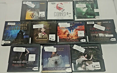 Young Adult Fantasy  Audio Books Lot of 10 on CD FREE SHIPPING Unabridged A-25