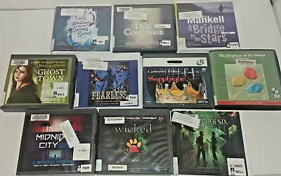Young Adult Fantasy  Audio Books Lot of 10 on CD FREE SHIPPING Unabridged A-29