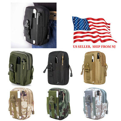 49b4ad80c761 TACTICAL MOLLE WAIST Pack Pouch Nylon Utility Outdoor Camping Hiking Belt  Bag