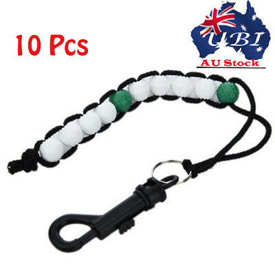 10Pcs Golf Beads Stroke Shot Putt Ball Beads Score Counter Keeper Wholesale AU