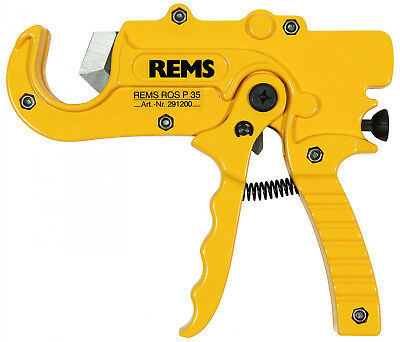 Rems Pipe Cutters Ros P 35 a 291220 R for Plastic Pipes,Connection Tube up to 35