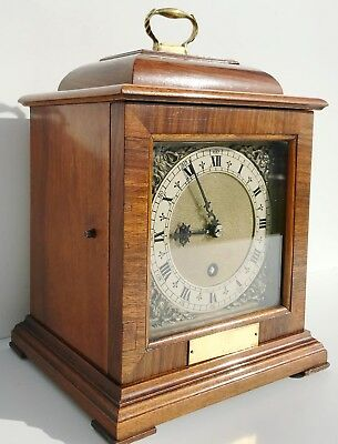 Smiths Tompion Walnut Bracket Clock
