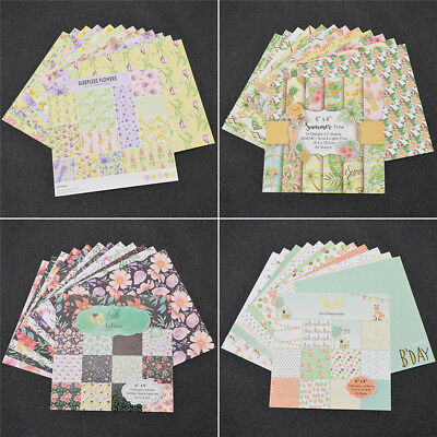 24 Sheets Origami Art Background Papers Scrapbooking Album Background Paper