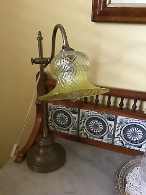 Antique Yellow Pleated  Glass Light Shade
