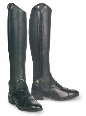 Tredstep Deluxe Half Chaps - Black Leather - CLEARANCE