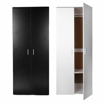 Modern Bedroom 2 Door Wardrobe Home Furniture Wardrobe Organiser White/Black