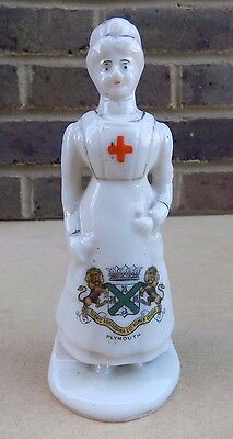 CARLTON CHINA Crested China Nurse - Plymouth