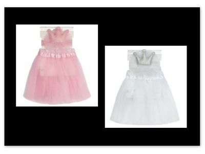 Baby Girl Princess Tutu Skirt & Headband Set Pink White Age 0-6, 6-12 or 12-24m