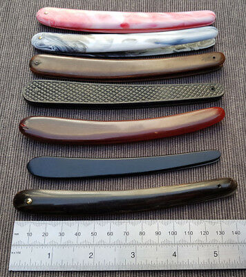 Straight Razor vintage,new scales / handles Lot of 7 for 5/8th and 6/8ths razors