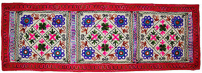 Kashmiri Embroider Wall Hanging Wall Tapestry Home Decor Table Runner Indian Art