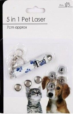 5 in 1 Pet Laser Pen Toy & Key ring (Batteries Included) cat dog lazer free post