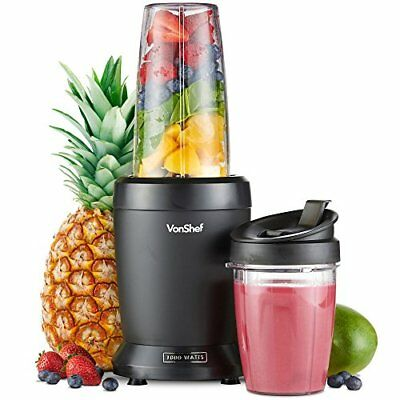 VonShef 1000W UltraBlend Personal Blender Smoothie Maker includes 800ml and 500m