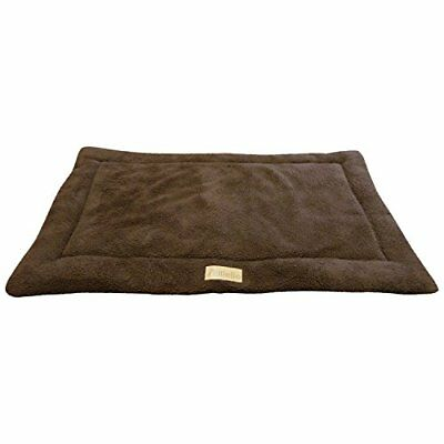 Ellie-Bo Sherpa Fleece Mat Bed in Brown - Fits Extra Large 42 Inch Cages and Cra