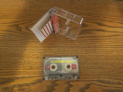 Audio cassette Test Records with 3150Hz 3.15kHz tones Wow and Flutter alignment