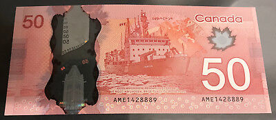 Lucky 888 Rare Canadian Dollar $ 50 Repeater Bill Note Mint UNC Canada New