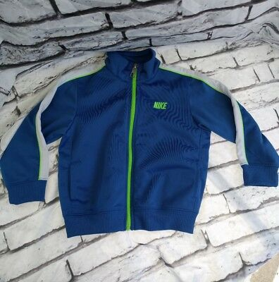 Nike Infant Boys Jacket 18 Months Front Zip Embroidered NIKE Blue Green