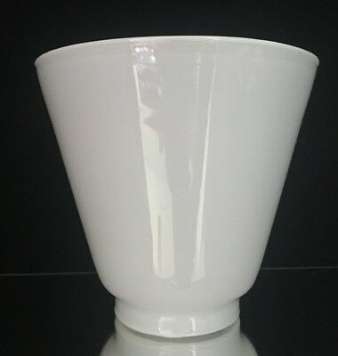 """1 Opal Opaque Milk Glass Cone Student Light Lamp Pendant Shades 2 1/2"""" fitter"""