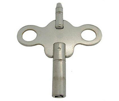 New Steel Double-ended Ansonia Carriage Clock Key,Size  - 3.25 mm & 1.75 mm