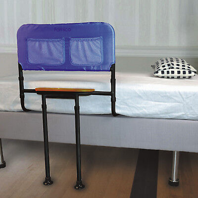 """Bed Rail with Tray - Adjustable Support Bar Handle - Fits Beds 16"""" to 21"""" High"""