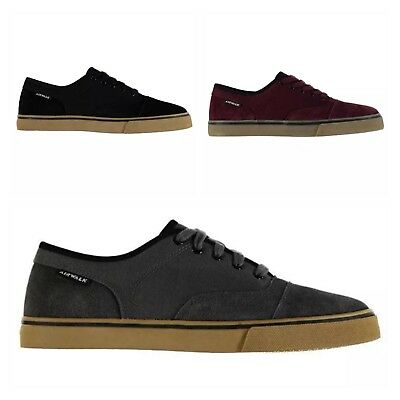 Airwalk Mens Tempo Lace Up Suede Tonal Stitching Shoes Trainers Skate NEW