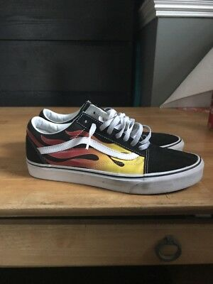 8916fe8f1c 2017 VANS OLD Skool Flame OG Black True White New Men s Sizes 11.5 ...