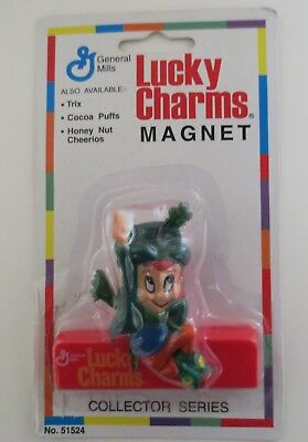 Vintage Lucky Charms Cereal Magnet Clip MOC
