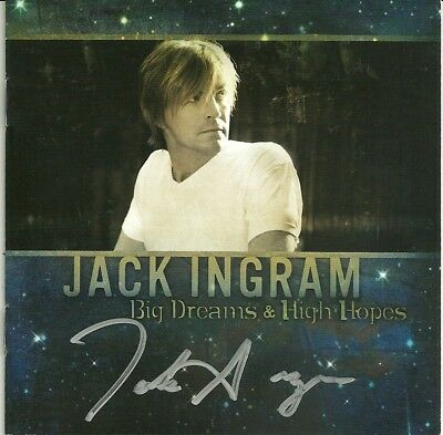 """AUTOGRAPHED Jack Ingram """"Big Dreams & High Hopes"""" (CD Cover Only) SIGNED COUNTRY"""