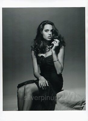 ORIG 1990 ANGELINA JOLIE Sultry and Glamorous.. FASHION Portrait from NEGATIVE
