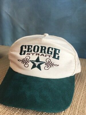 George Strait Green Bill Hat Cap Snapback Made In USA