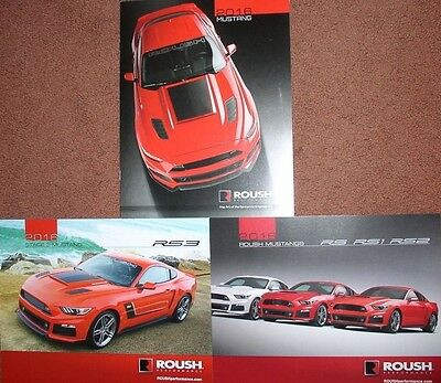 2016 Ford Roush Mustang Brochure & (2) 2016 Ford Roush Mustang Posters