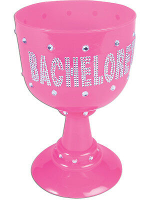 Pink Drinking Chalice Crown Goblet Bachelorette Cup Costume Accessory