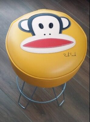 Vintage Paul Frank Orange Stool (RARE 2002) Julius the Monkey- Signed