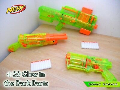 Nerf Sonic Series Maverick REV-6 Deploy Cs-6 Barrel Break Glow In The Dark Darts