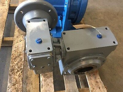 HUB CITY MODEL 5205 600:1 Double Reduction Worm GEAR REDUCER Ratio 600:1