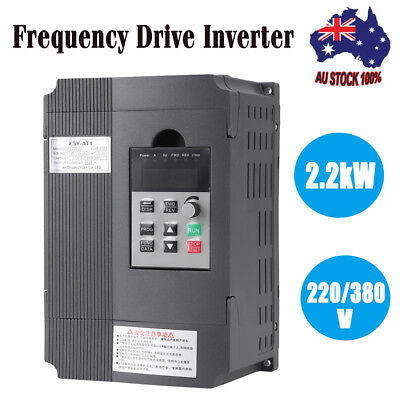 2.2KW 3 Phase VFD Variable Frequency Drive Inverter Motor Speed Controller 220V
