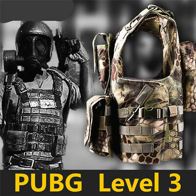 Game PUBG Cosplay Costume Prop BODY ARMOR Armor Tactical Vest PLATE Level1-3 NEW