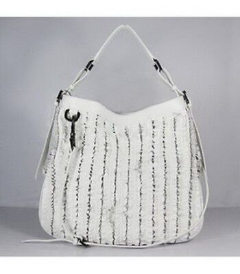 3eee5755f3b Auth Burberry Ruched Ribbon White Large Leath Satchel Tote Ret 2595 What  Bargain