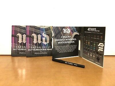 New Lot Of 3 Urban Decay 24/7 Glide-On Eye Pencil Eyeliner PERVERSION