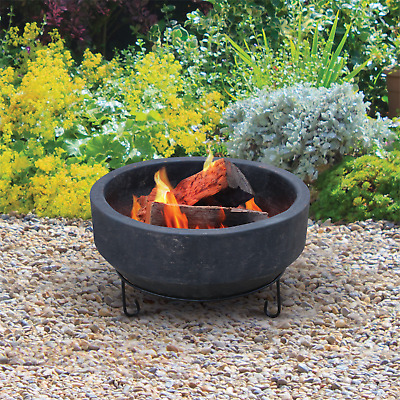 Handmade Mexican Clay Firepit Fire Pit Charcoal Incan Outdoor Camp Wood + STAND