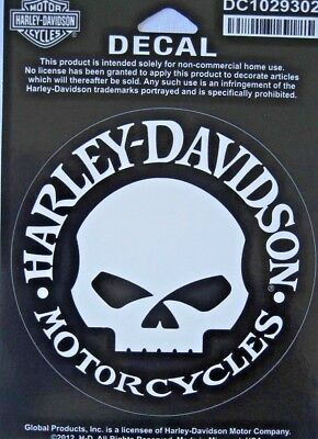Harley Davidson  Willie G Skull  Sticker/Decal Licensed Product