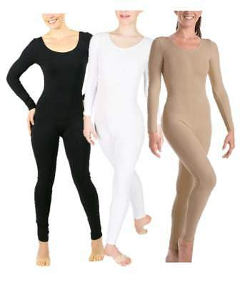 NWT Body Wrappers 217 Long Sleeve Adult Unitards Black, Nude, White